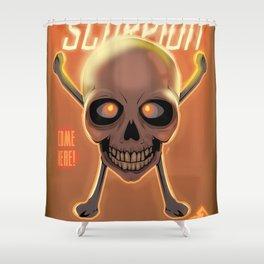 Skullet: Scorpion Shower Curtain