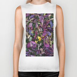 Fallen Rainbow Leaves Biker Tank