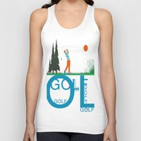 golf Tank Tops featuring Golf, golf, golf! by South43