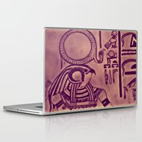 egyptian Laptop & iPad Skins featuring Egyptian (Horus) by Aaron Carberry