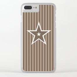 The Greatest Star! Coffee and Cream Clear iPhone Case
