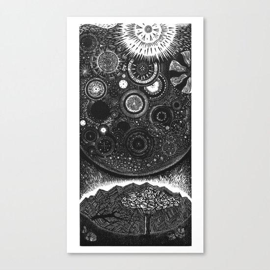 Infiniteness Woodcut Canvas Print
