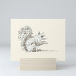 Squirrel at Rest Mini Art Print