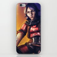 gladiator iPhone & iPod Skins featuring Borderlands - Athena The Gladiator by Chooone