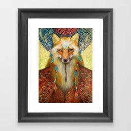 Wise Fox Framed Art Print