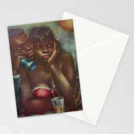 African American Masterpiece 'NYC Harlem' by Marion Greenwood Stationery Cards