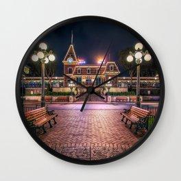Christmas Disneyland Train Wall Clock