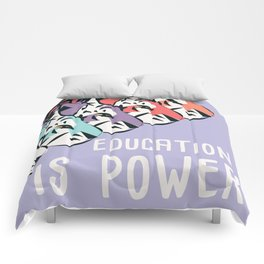 Education is power, tigers Comforters