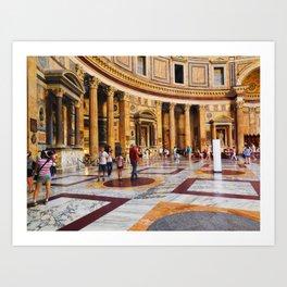 The Pantheon, Rome, Italy Art Print