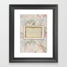 Faded Rose Framed Art Print