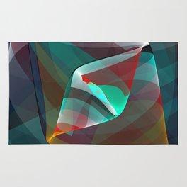 Visual impact, modern fractal abstract Rug