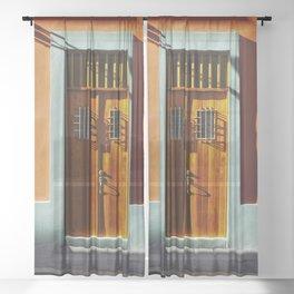 puerto rico house Sheer Curtain