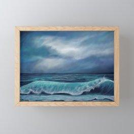 Moody waves Framed Mini Art Print