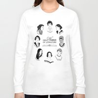literature Long Sleeve T-shirts featuring Great Women of Literature by geeksweetie