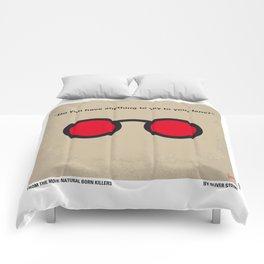 No139 My Natural Born Killers minimal movie poster Comforters