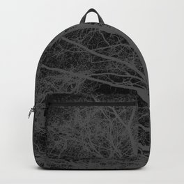 Black and white tree silhouette Backpack