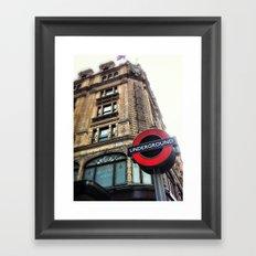 Harrods, London Framed Art Print