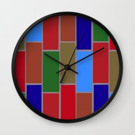 Colored Tiles Version 3 Wall Clock