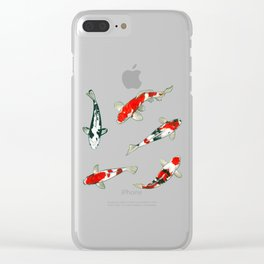 Le ballet des carpes koi Clear iPhone Case