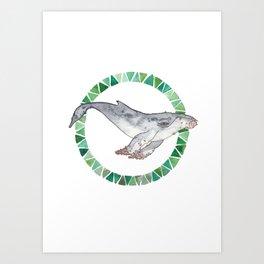 52 hertz//the loneliest whale Art Print