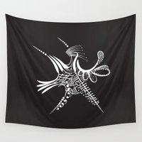 snowflake Wall Tapestries featuring Snowflake by Bazarovart