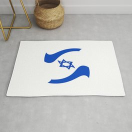flag of israel 11- יִשְׂרָאֵל ,israeli,Herzl,Jerusalem,Hebrew,Judaism,jew,David,Salomon. Rug