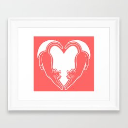 Cat Heart 1 Framed Art Print