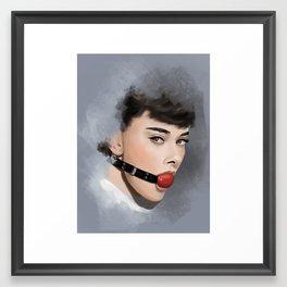 Audry Hepburn Framed Art Print