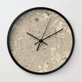 Vintage Map of Sheffield England (1851) Wall Clock