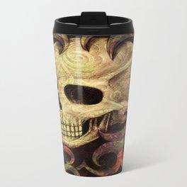 Skull Abstract Metal Travel Mug