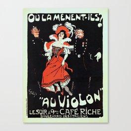 To jail Paris nightlife 1897 Canvas Print