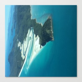 Whitehaven Beach and Hill Inlet Canvas Print