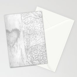 vintage half hert a sun flowers Stationery Cards
