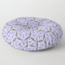 Purple Peacock Pattern Floor Pillow