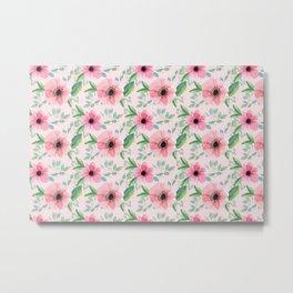 Vintage garden floral pattern Metal Print