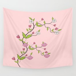 Branch of flowers Wall Tapestry