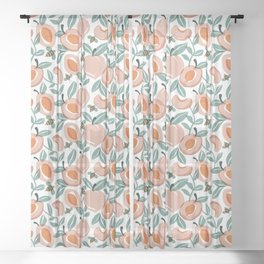 Just Peachy Sheer Curtain