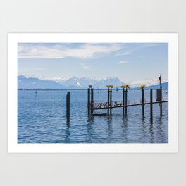 Bodensee and Alp Mountains Art Print