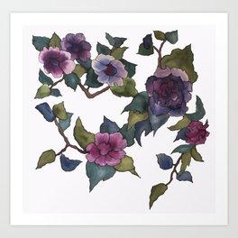 Branche de fleurs Art Print