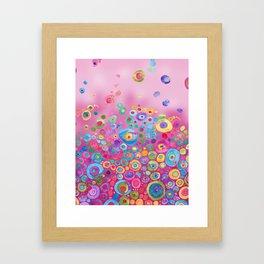 Inner Circle - Pink Framed Art Print