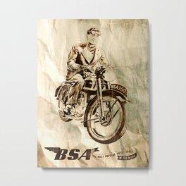 BSA - Vintage Poster Metal Print