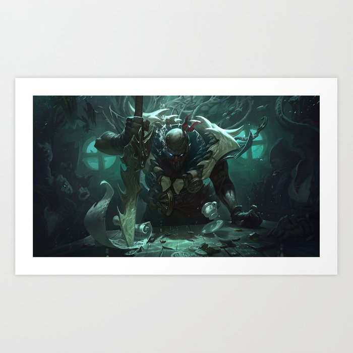 Classic Pyke League Of Legends Art Print By Amumus