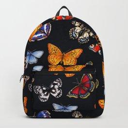 Butterflies On Black Backpack