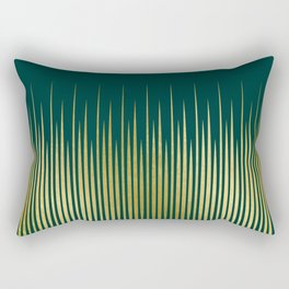 Linear Gold & Emerald Rectangular Pillow