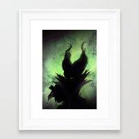 maleficent Framed Art Prints featuring Maleficent by Arnaud de Vallois