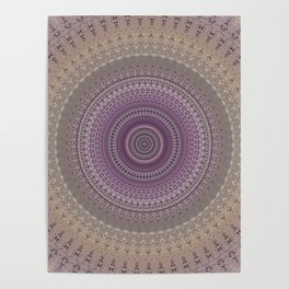 Elegant Lavender Mandala Poster