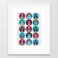 robots Framed Art Prints featuring Robots by Kakel