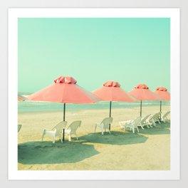 Pink Row II Art Print