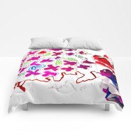 Spring Blooming Flowers Comforters
