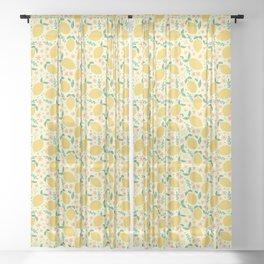 Mellow Yellow Lemons Sheer Curtain